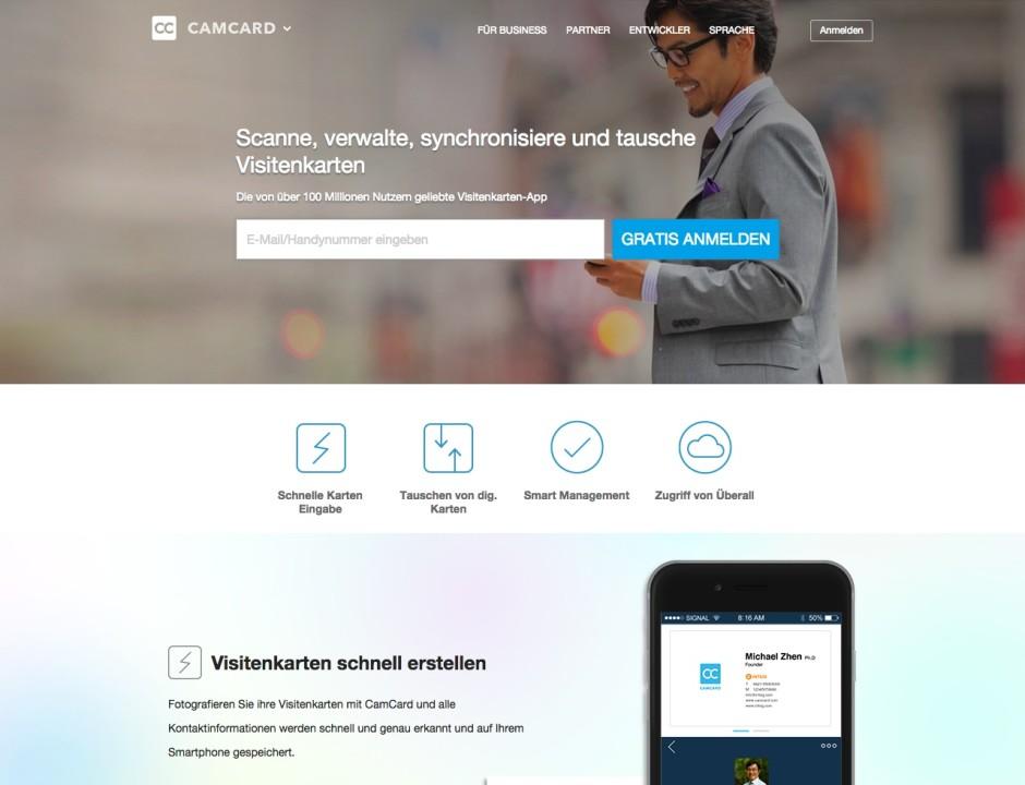 Screenshot camcard.com
