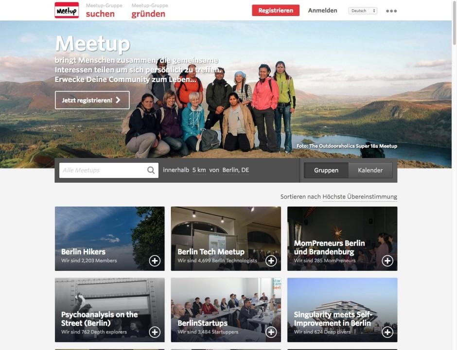 Screenshot meetup.com