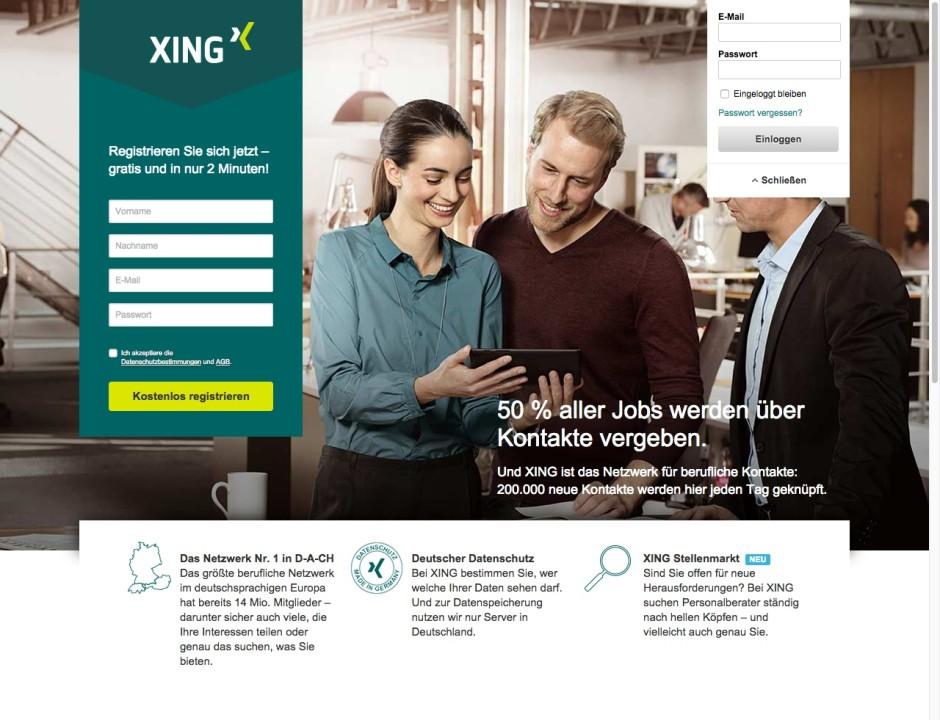 Screenshot xing.com